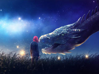 HD Wallpaper | Background Image Fantasy Girl With Dragon