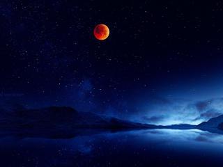 Fantasy Moon Landscape wallpaper