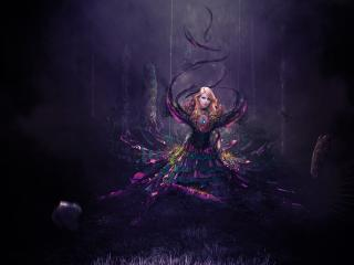 Fantasy Women Dark Magic wallpaper