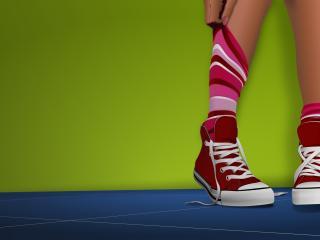 feet, shoes, socks wallpaper