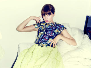 felicity jones, actress, dress wallpaper