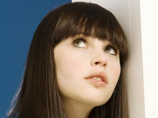 felicity jones, brunette, eyes wallpaper