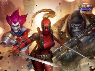 Female Deadpool Marvel Future Fight wallpaper