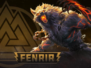 HD Wallpaper | Background Image Fenrir in Smite