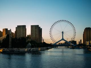 ferris wheel, city, entertainment wallpaper