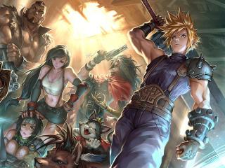 Final Fantasy VII 4k wallpaper