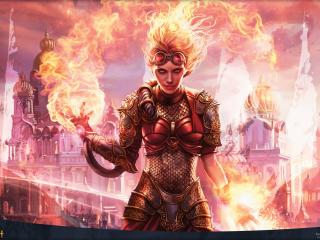 Fire Girl Magic The Gathering wallpaper