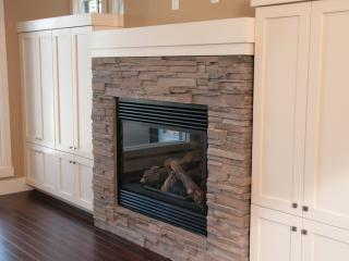 fireplace, glass, design wallpaper