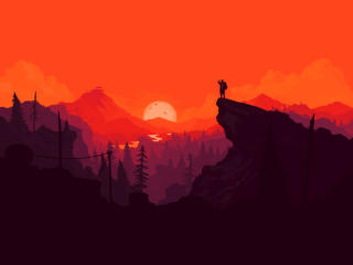 Firewatch Digital Art wallpaper