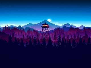 Firewatch Sunset Artwork wallpaper