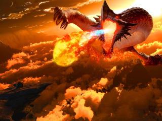 Firey Dragon wallpaper