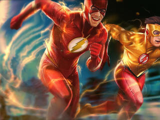 Flash and Kid Flash DC Comic wallpaper