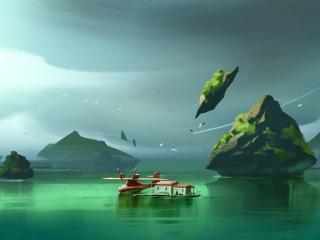 Floating House wallpaper