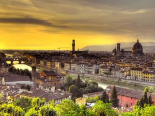 florence, italy, sunset wallpaper