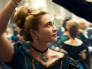 Florence Pugh In Little Women wallpaper