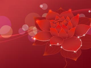 flower, dots, glitter wallpaper