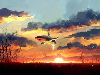 Flying Shark wallpaper