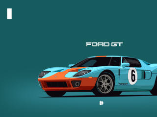 Ford GT40 Minimalist wallpaper