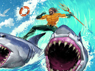 Fortnite Aquaman Beach King wallpaper