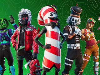 Fortnite Christmas Outifits wallpaper