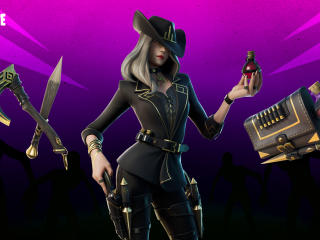 Fortnite Victoria Saint Outfit wallpaper