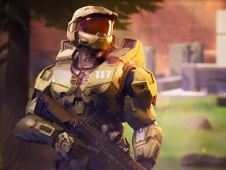 Fortnite x Master Chief Halo wallpaper