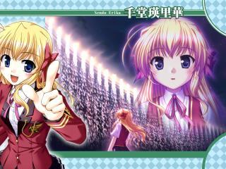 fortune arterial akai yakusoku, girl, blonde wallpaper