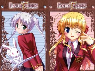 HD Wallpaper | Background Image fortune arterial, akai yakusoku, girlsl