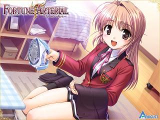 fortune arterial, yuuki haruna, girl wallpaper
