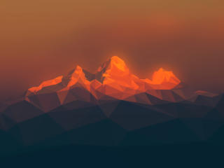Fractal Red Mountains wallpaper