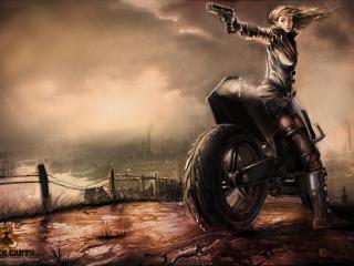 freedom fighters, girl, pistol wallpaper