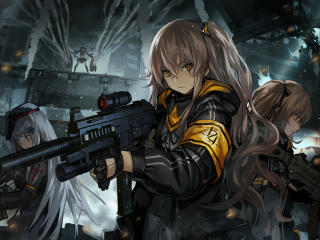 Frontline G11 and HK416 wallpaper