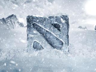 frozen, dota 2, logo wallpaper