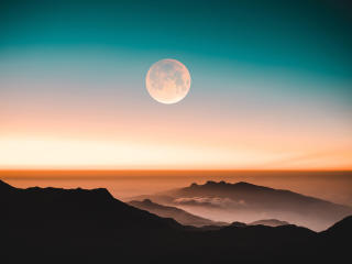 Full Moon Evening In Adam's Peak wallpaper