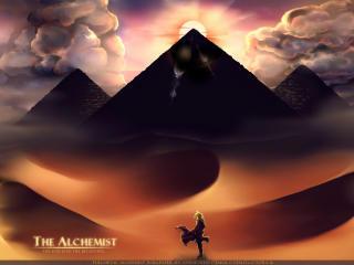 fullmetal alchemist, sand, egyptian pyramids wallpaper