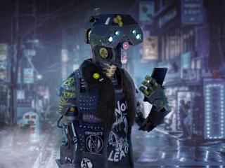 Funny Cyberpunk Robot wallpaper