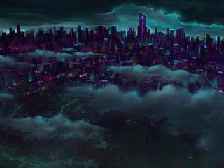 Futuristic Cityscape 4K Art wallpaper