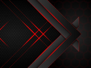 Futuristic Dark Hexagon 10K wallpaper