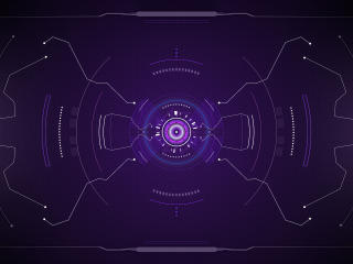 Futuristic Sci-Fi HUD wallpaper