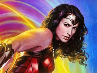 Gal Gadot Wonder Woman Digital Draw wallpaper