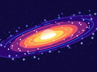 Galaxy Minimalist 4K Cool wallpaper