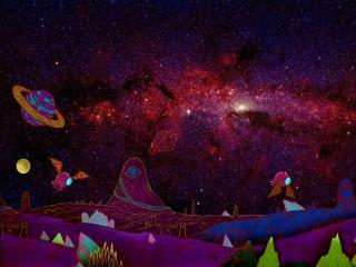 Galaxy Rick and Morty wallpaper