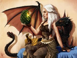 game of thrones, art, emilia clarke wallpaper