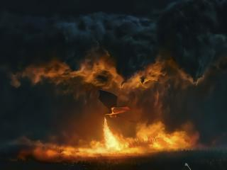 Game Of Thrones Dragon Fire wallpaper