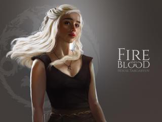 Game Of Thrones Dragon Girl Daenerys Targaryen Art wallpaper