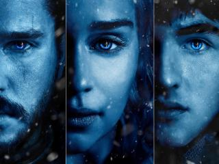 Game of Thrones Season 7 Jon Snow, Daenerys and Brandon Stark wallpaper
