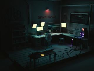 Game Over Hacker Setup wallpaper