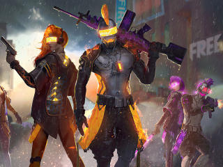 Garena Free Fire Cyborgs wallpaper
