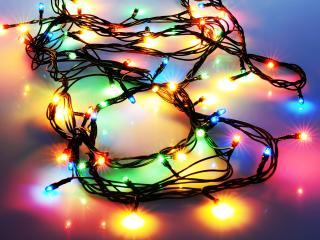 garland, lights, light wallpaper
