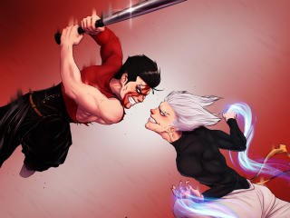 Garou vs Bad One-Punch Man wallpaper